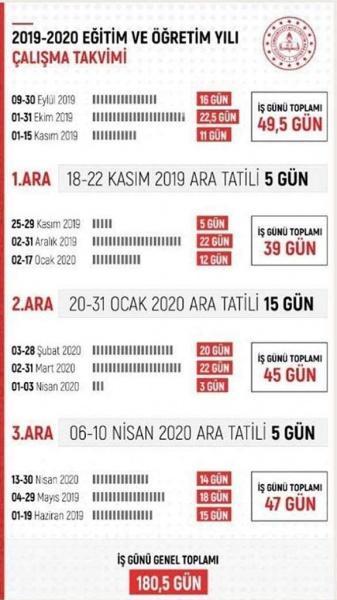Bakanimiz Yeni Calisma Takvimini Acikladi Cumhuriyet Ilkokulu